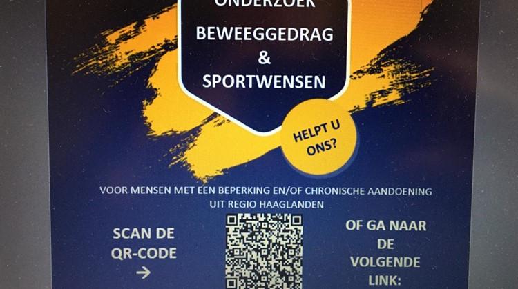 Sporten en bewegen voor mensen met een beperking en/of chronische aandoeningen in regio Haaglanden. afbeelding nieuwsbericht
