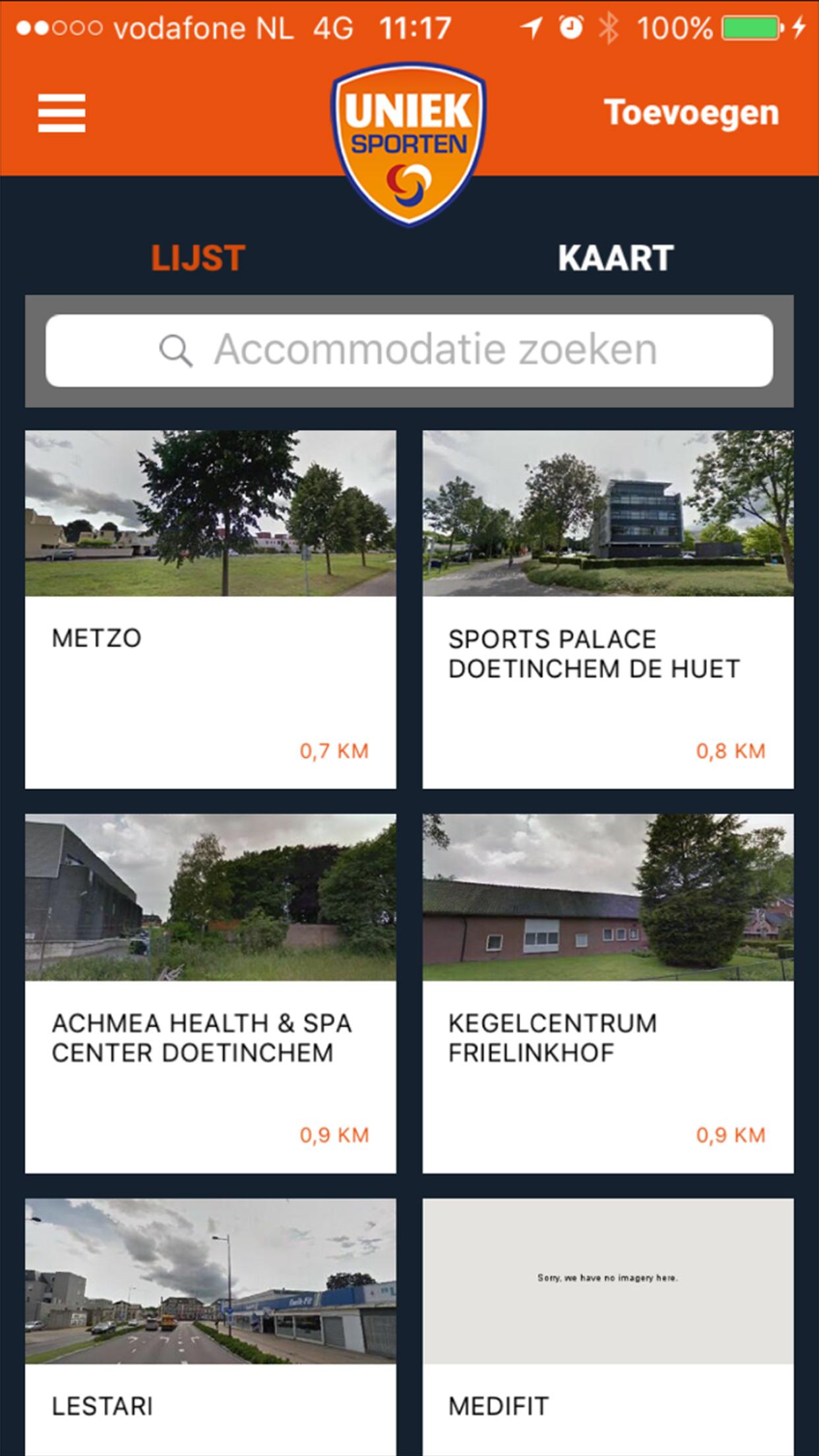 Uniek Sporten App screenshot 3