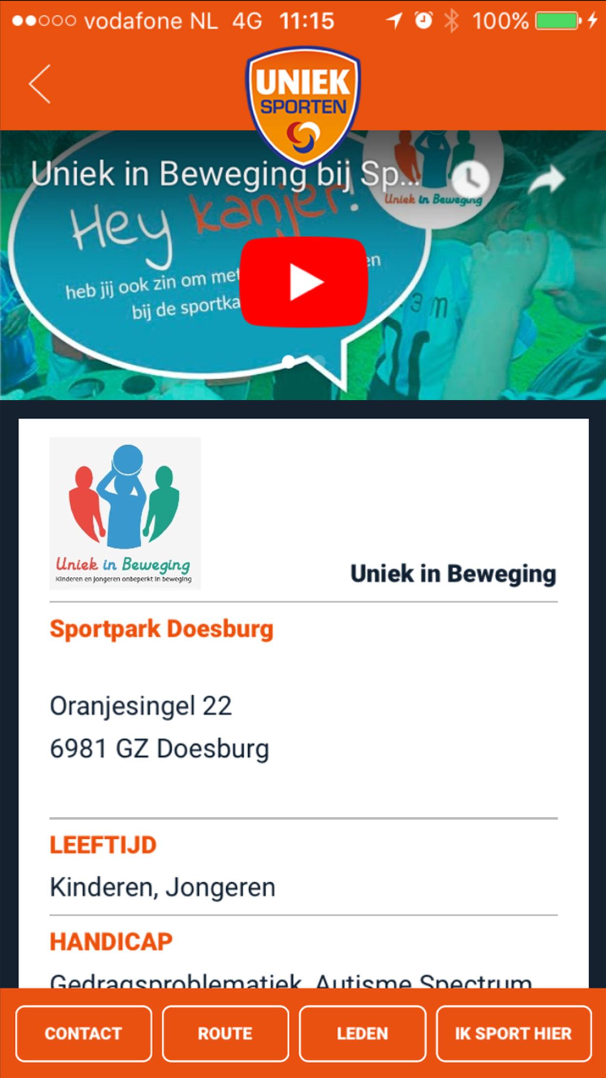 Uniek Sporten App screenshot 4